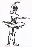 Black ink ballerina Stock Photography
