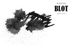 Black ink blot. Royalty Free Stock Images