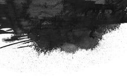 Black ink blot. Isolated on white royalty free stock photo