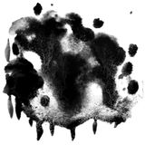 Black ink blot Stock Photography