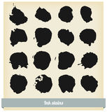 Black ink blots Royalty Free Stock Images