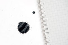 Black ink blots on a white background Stock Photography