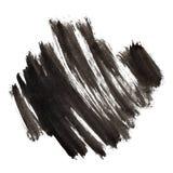 Black ink bursh strokes Royalty Free Stock Image