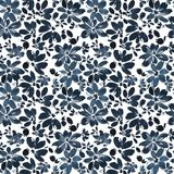 Black ink floral pattern Royalty Free Stock Images