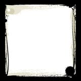 Black ink frame Royalty Free Stock Photos