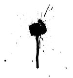 Black ink grungy spot. Isolated black ink grungy spot on white background vector illustration
