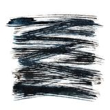 Black ink hatched square Royalty Free Stock Image