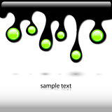 Black ink leak Royalty Free Stock Photo