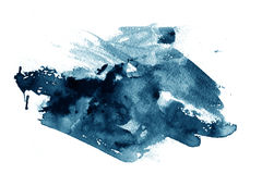 Black ink or paint. A smudge or smear of black ink or paint Stock Photography