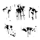 Black Ink splashes Stock Image