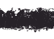 Black ink splat banner Royalty Free Stock Photo