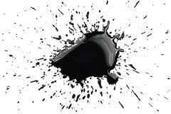Black ink spot stain spatter splash splatter Royalty Free Stock Photography