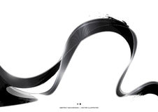 Black Ink Stripe Abstract Background, vector illustration Stock Photography