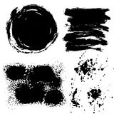 Black ink strokes . Royalty Free Stock Images