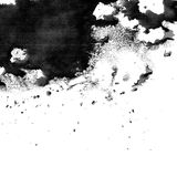 Black ink texture with blobs and splotches. Large artistic black paint brush splotch texture Stock Image