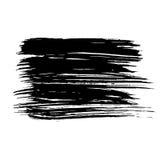 Black ink vector brush stroke isolated on white background. Vector illustration. Grunge texture. Black ink vector brush stroke isolated on white background Stock Image