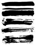 Black ink vector brush strokes Royalty Free Stock Image