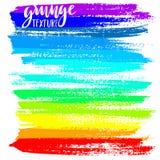 Black ink vector brush strokes. Vector illustration. Grunge rainbow texture. Stock Photo