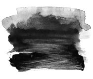 Black ink on white background. Abstraction. Black ink on white background. Watercolor brush. Elements for design. Abstraction Royalty Free Stock Photography