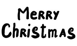 Black inscription Merry Christmas Royalty Free Stock Photography