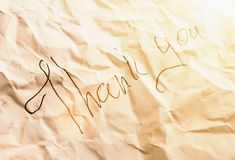 Black inscription on piece of paper Royalty Free Stock Photos