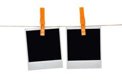 Black instant photo Stock Photography