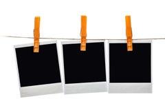 Black instant photo Stock Photos