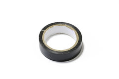 Black insulating tape on white background Stock Photography