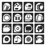 Black Internet, Computer and mobile phone icons. Vector icon set