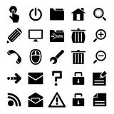 Black internet icons set Stock Photography