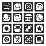 Black Internet and Website Icons. Vector Icon Set