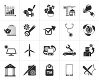 Black Internet and Website Portal icons. Vector icon set Royalty Free Stock Photography