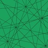Black intersecting straight lines on an emerald background. Pattern of triangles for the decoration of banners or fabric vector illustration
