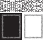 Black intricate and ornate border. Or background with copy space royalty free illustration