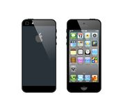 Black iPhone 5. The latest generation iphone , highly popular around the world Royalty Free Stock Image