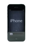 Black iPhone 5. Isolated in white background Royalty Free Stock Images
