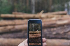 Black Iphone 5 Stock Images