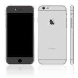 Black iPhone. Vector of dark smartphone iPhone Royalty Free Stock Image