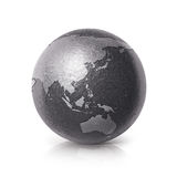 Black iron Asia & Australia world map 3D illustration Stock Photo