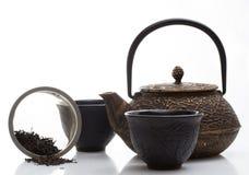 Black iron asian teapot Stock Image