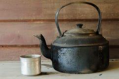 Black iron asian teapot Stock Photography