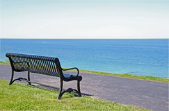 Black Iron Bench Royalty Free Stock Image