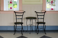 Black iron chairs. Stock Images
