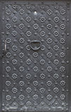 Black iron door Stock Images