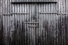 Black Iron Door Stock Images