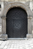 Black iron doors Stock Photo
