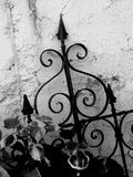 Black Iron Fence Stock Photo