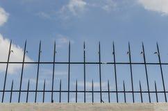 Black iron fence Stock Photo