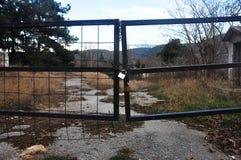 Black iron gate Royalty Free Stock Photo