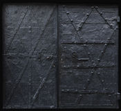 Black iron gothic doors Royalty Free Stock Image
